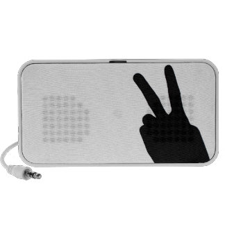 Peace Sign by Hand iPhone Speakers