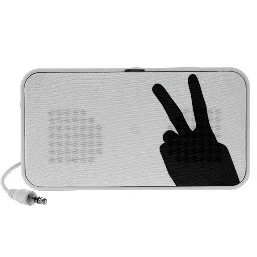 Peace Sign by Hand Speaker