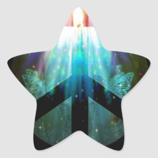 Peace Sign Candle Star Sticker