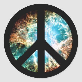 Peace Sign (Crab Nebula) Stickers