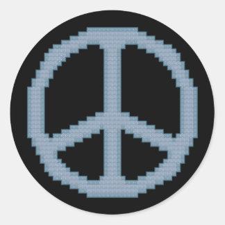 Peace Sign Cross Stitch Sticker