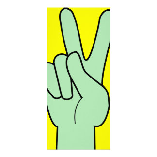 Peace Sign Hand  Bookmarks Rack Cards