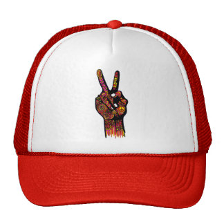 Peace Sign Hand Cap