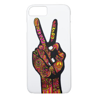 Peace Sign Hand iPhone 7 Case