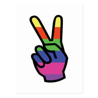 PEACE SIGN HAND POSTCARD