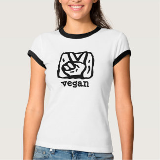 Peace Sign Hand V for Vegan T-Shirt