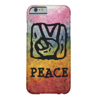 Peace Sign Hand with Bright Rainbow Barely There iPhone 6 Case