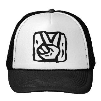 Peace Sign Hands Cap