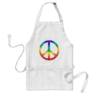 Peace Sign in Chakra Colors Standard Apron