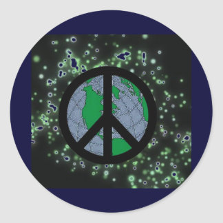 Peace Sign In Space Stickers