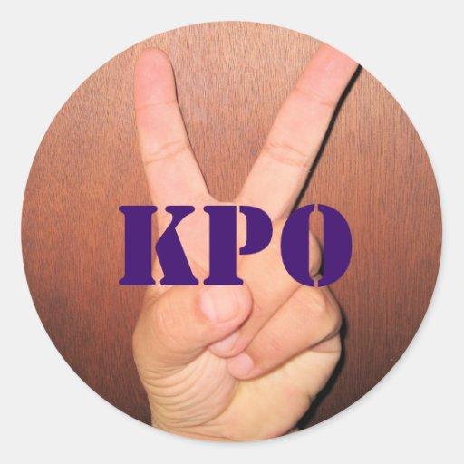 Peace Sign, KPO Round Sticker