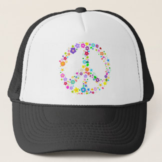 Peace sign of Flowers Trucker Hat