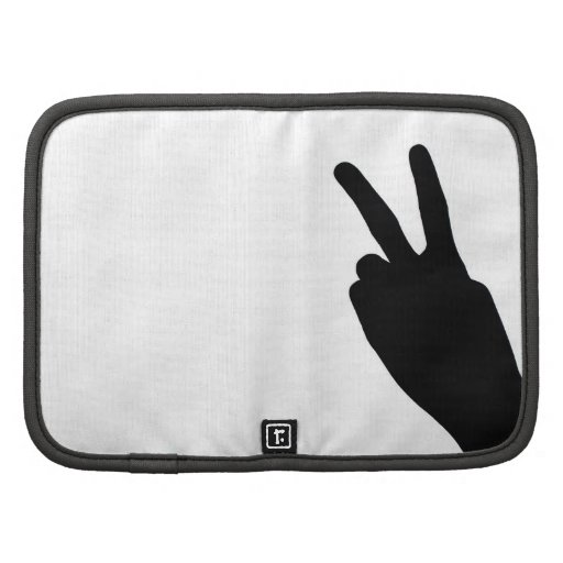 Peace Sign on Hand Folio Planners