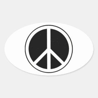 Peace Sign Oval Sticker