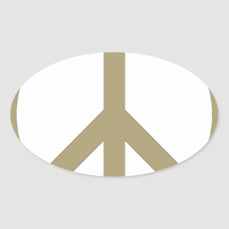 Peace Sign Oval Sticker