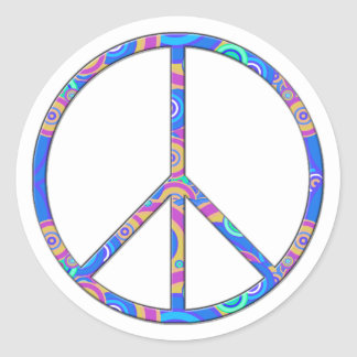 Peace Sign - Peace Symbol Round Stickers