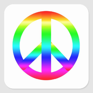 Peace Sign Square Sticker