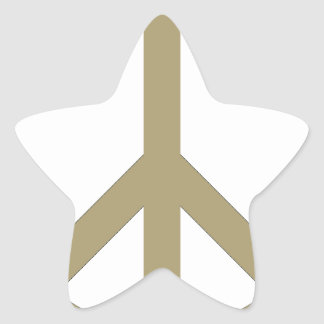 Peace Sign Star Sticker