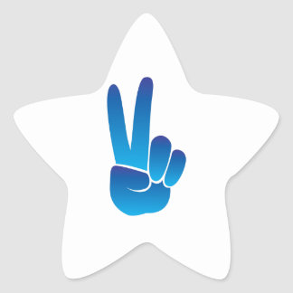 Peace Sign Star Sticker