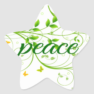 Peace Sign Star Stickers