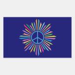 Peace Sign Symbol Rectangular Sticker