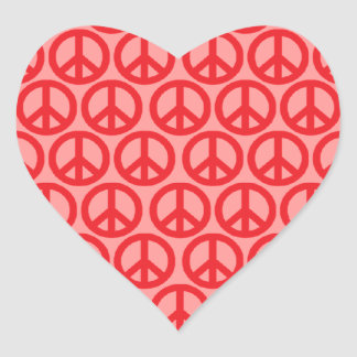 Peace Signs Heart Sticker