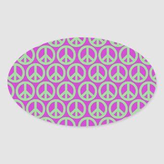 Peace Signs Oval Sticker