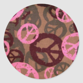 Peace Signs-Pink-Stickers
