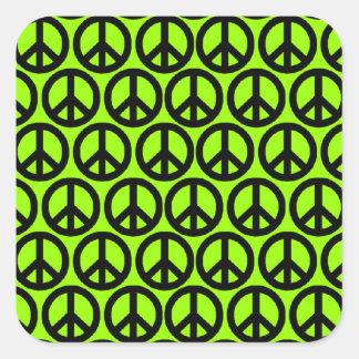 Peace Signs Square Sticker
