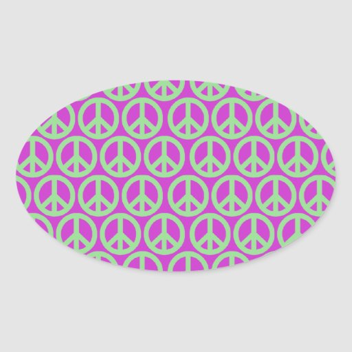 Peace Signs Oval Stickers
