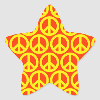 Peace Signs Star Sticker