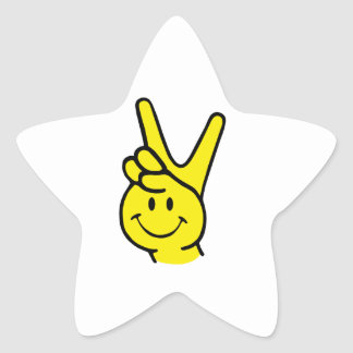 peace smile star sticker