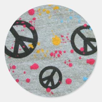 Peace splatters sticker