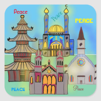 Peace Square Sticker