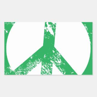 Peace Rectangular Sticker