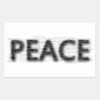 Peace Rectangular Stickers