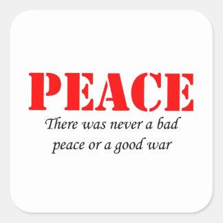 Peace Square Sticker