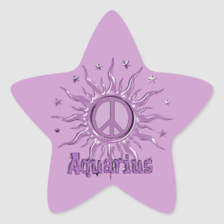 Peace Sun Aquarius Star Sticker