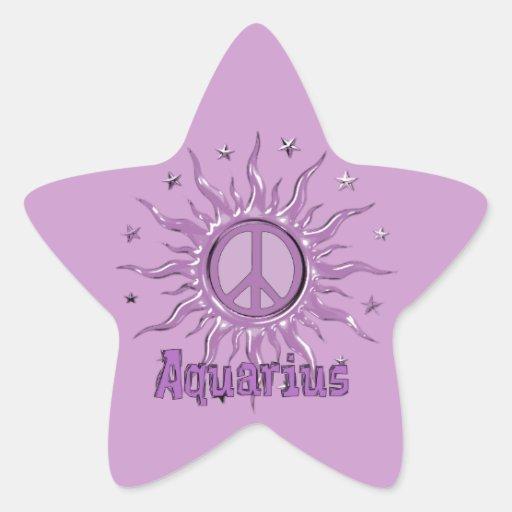 Peace Sun Aquarius Stickers