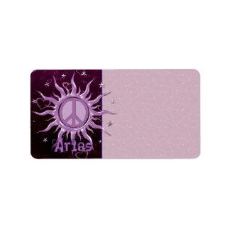 Peace Sun Aries Label
