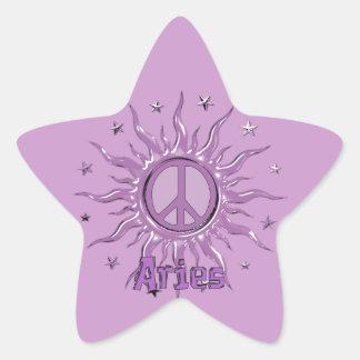 Peace Sun Aries Star Sticker