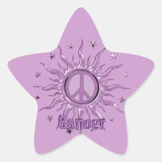 Peace Sun Cancer Star Sticker
