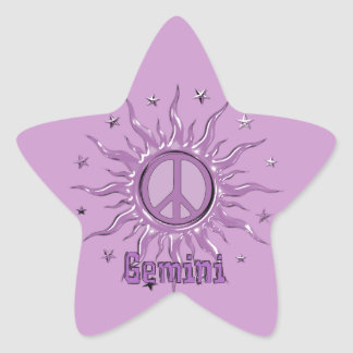 Peace Sun Gemini Star Sticker