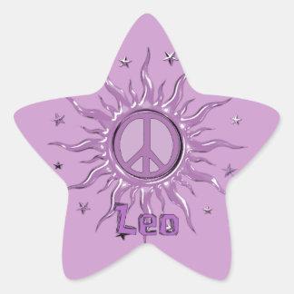 Peace Sun Leo Star Sticker