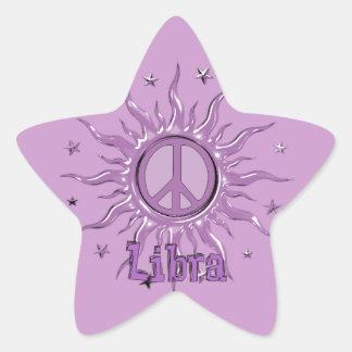 Peace Sun Libra Star Sticker