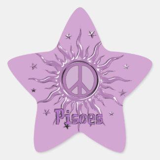 Peace Sun Pisces Star Sticker