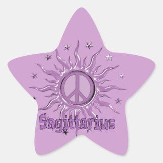 Peace Sun Sagittarius Star Sticker