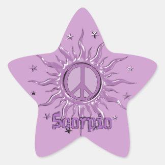 Peace Sun Scorpio Star Sticker