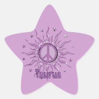 Peace Sun Taurus Star Sticker