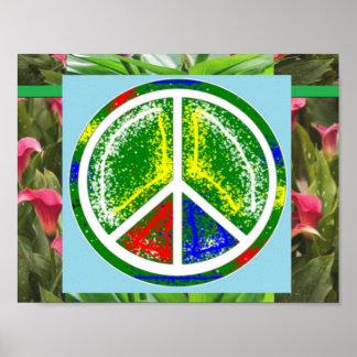 PEACE SYMBOL Green  Art Decorations
